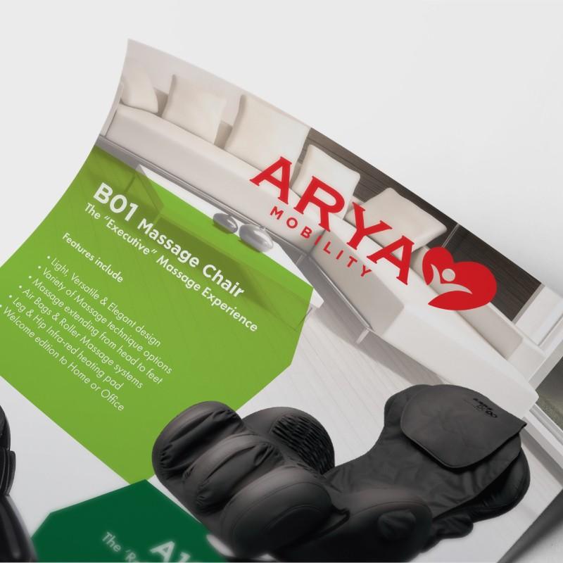 Arya Mobility flyer design