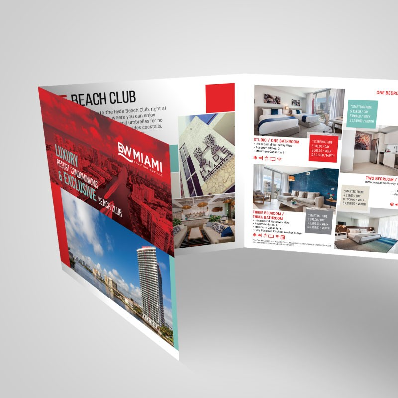 BW Miami brochure design