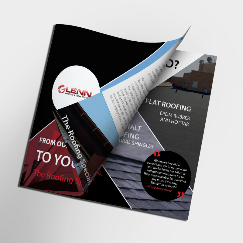 Glenn Roofing & construction booklet design