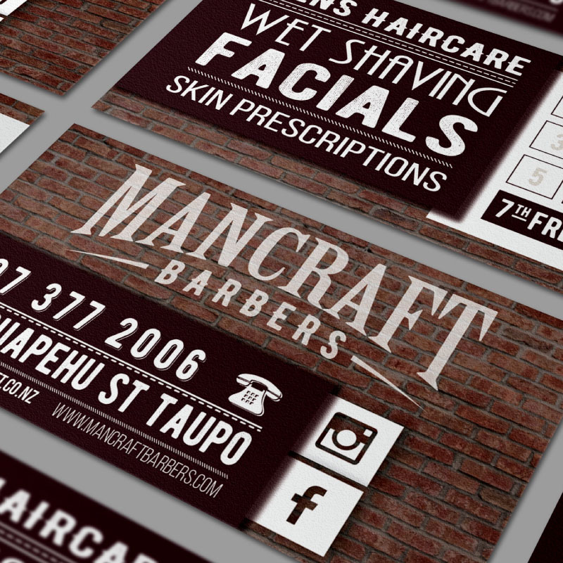 Mancraft Barbers Business card design